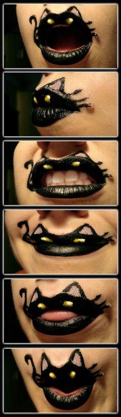Halloween lip paint.