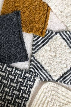 Knit along blanket squares for week 8 of A Day Out KAL by Sarah Hatton for Black Sheep Wools. An exclsuive blanket design with all patterns available to download from Black Sheep Wools. #adayoutkal #knitting #knitalong Black Sheep Wool, Free Pattern Download, Magic Loop, How To Clean Iron, Simple Colors, Knitted Blankets, Days Out, Arm Warmers, Blanket Design