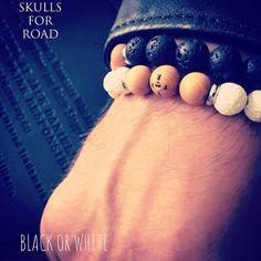 SFR bracelets black or white Skull Bracelet, Skulls, Bracelets, Black, Bangles, Black People, Bracelet
