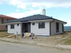 Bungalow - Under construction House Layout Plans, House Layouts, One Storey House, House Plans Mansion, Beautiful House Plans, Bungalow House Design, Stone Cladding, Built In Cabinets, Flat Roof