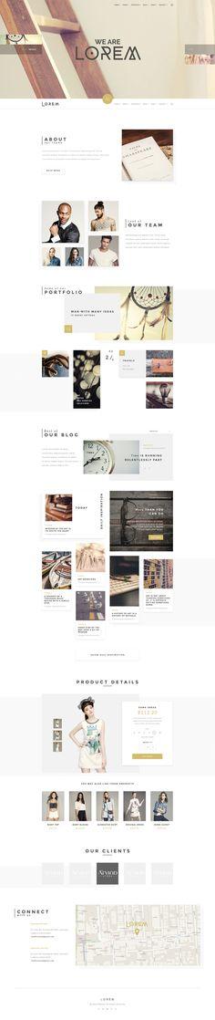 Lorem - Clean and Modern PSD Template - PSD Templates | ThemeForest