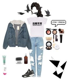 """Hipster"" by soldierofpeace on Polyvore featuring Jayson Home, Topshop, NIKE, MAC Cosmetics, Vita Liberata, Eve Lom, Bare Escentuals, INIKA, Soleil Toujours and Origins"