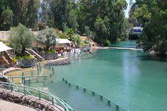 Baptismal site in Jordan river, Israel.  Baptized there June 2014