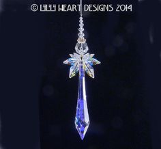 Swarovski Crystal Suncatcher QUEEN of the by LilliHeartDesigns