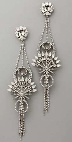 Art Deco, Diamond Earrings.