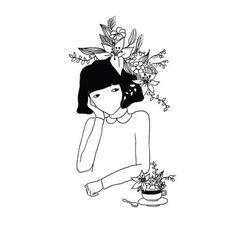 Find images and videos about girl, art and black and white on We Heart It - the app to get lost in what you love. Pretty Art, Cute Art, Easy Doodle Art, Doodle Ideas, Ballerina Art, Simple Doodles, Digital Art Tutorial, Art Tutorials, Art Inspo
