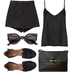 """""""Back to black"""" by louisesuxx on Polyvore"""