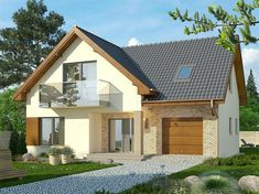 Bungalow Renovation, Country Style House Plans, Small House Design, Home Design Plans, Facade House, Home Fashion, Living Spaces, Sweet Home, Shed