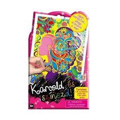 CK Karcold és színezd kreatív készlet, Női fej