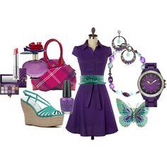 Purple/Teal