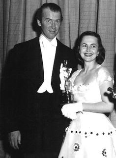 Jimmy Stewart and Olivia de Havilland at the 22nd Academy Awards, 1950