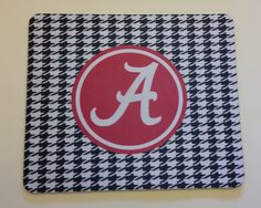 Alabama Crimson Tide Houndstooth Mouse Pad Personalized by SDdoodles on Etsy https://www.etsy.com/listing/218414345/alabama-crimson-tide-houndstooth-mouse
