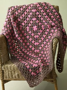 Ravelry: Chocolate-covered Cherries Afghan pattern by Lion Brand Yarn
