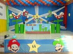 mesa de pastel mario bros - Google Search