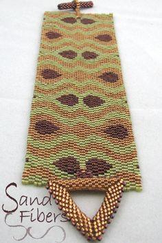 Peyote Pattern Dreaming in Batik Peyote Cuff / by SandFibers