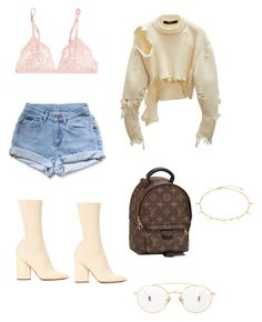 """""""Untitled #111"""" by fa-ye ❤ liked on Polyvore featuring La Perla, Levi's, adidas Originals, Ahlem and Louis Vuitton"""