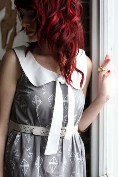 great bright red highlights in deep red hair.