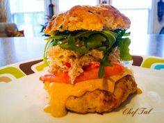Cheddar Garlic Cilantro biscuit/Alaskan King Crab/Blue fin Lump ...