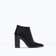 ZARA | POINTY HIGH HEELED LEATHER BOOTS