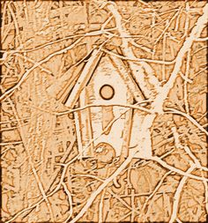 birdhouse in the woods - b by Sabre - Hope Mills, via Flickr