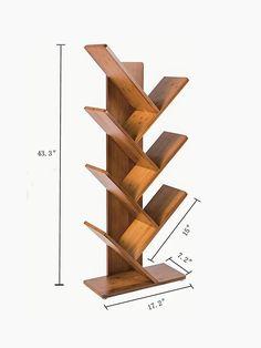 Simple ideas for DIY shelving - Diy Möbel Diy Furniture Plans Wood Projects, Woodworking Projects Diy, Home Decor Furniture, Woodworking Plans, Diy Home Decor, Creative Bookshelves, Bookshelf Design, Tree Bookshelf, Book Shelves