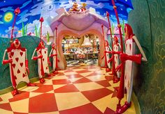 Queen of Hearts Banquet Hall is a counter service, buffeteria-style restaurant in Tokyo Disneyland's Fantasyland themed to the Queen of Hearts' Castle from