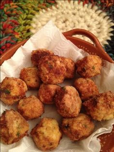 Grandpa's Portuguese Codfish Balls require a bit of preparation ahead of time, but the cooking itself is fast. What is most amazing about it is the fact that even though the codfish balls are deep fried, they are light on the tongue.