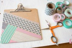 DIY Washi Tape Clipboard