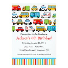 Image result for vehicle party invites