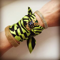 Silk Philosophy twilly bracelet. Unique summer accessory. Women's tie/silk scarf.