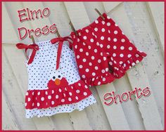 Elmo Pillowcase Dress and Ruffle Gotta get this pattern and get to sewing