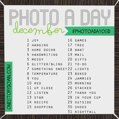 PHOTO A DAY DECEMBER