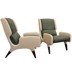 Pair of Gio Ponti Cut-Out Armchairs from the Hotel Parco dei Principi (1964)