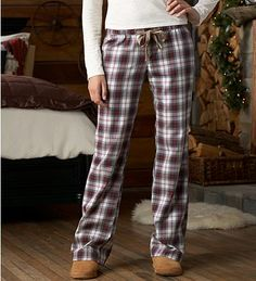 Eddie Bauer :: Lightweight Cotton Flannel Pajama Pants    **Pictured in Cream, but I prefer the Pale Blue**