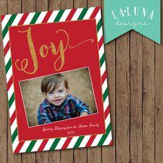 Christmas Card, Photo Christmas Card, Joy Card, Merry Christmas, Happy Holidays, Holiday Card, DIY Printable Christmas Card
