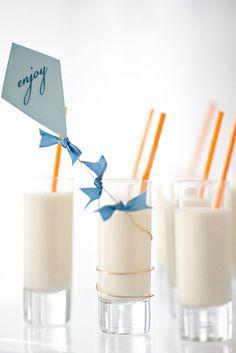 Etiquetas en forma de cometa para decorar fiestas infantiles