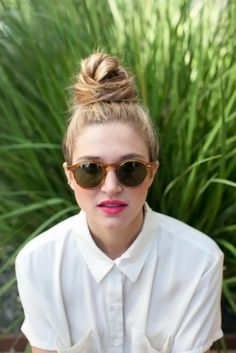 The Perfectly Messy Top Knot Tutorial | Camille Styles