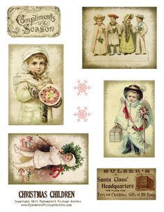 free christmas vintage printable | Ephemera's Vintage Garden: Free Weekly Printable: Christmas Children