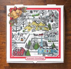 """"""" This box earned a bronze medal at the International Flexographic Printing Competition for RockTenn's Wakefield facility in (Viva La Pizza) Perfect Pizza, Good Pizza, Pizza Box Design, History Of Pizza, Box Invitations, Invite, Pizza Boxes, The Birth Of Christ, My Tea"""