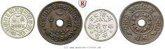 RITTER Kutch, Madanasinghji, Auf die indische Unabhängigkeit, Satz, 2 Münzen #coins