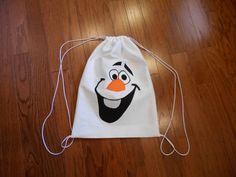 Frozen Inspired drawstring backpack by donnamann3 on Etsy, $12.00