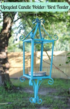 How To Make A Bird Feeder Out Of An Upcycled Candle Holder