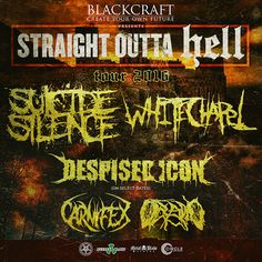 Here's The Full Routing For The SUICIDE SILENCE, WHITECHAPEL Tour