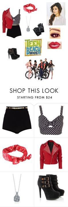 """Bikers (Teen Beach Movie)"" by treasureclarke ❤ liked on Polyvore featuring River Island, Retrò, Denim & Supply by Ralph Lauren, BERRICLE and Disney"