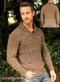 Men's jumper: free knitting pattern
