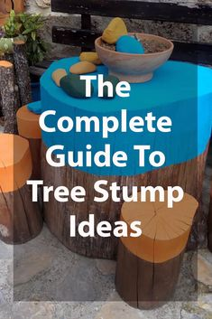 In this article we've come up with 21 tree stump ideas to transform the fallen trees in your yard into something spectacular and eye-catching! Tree Stump Furniture, Tree Stump Decor, Tree Stump Planter, Tree Stump Table, Ideas For Tree Stumps, Log Furniture, Wood Log Crafts, Wood Stumps, Outdoor Trees