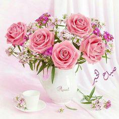 e Love Flowers, My Flower, Fresh Flowers, Flower Power, Beautiful Flowers, Beautiful Flower Arrangements, Floral Arrangements, Valentine's Day Quotes, Vase