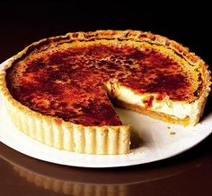 Apricot crème brûlée tart - going to use blackcurrants from the garden instead of apricots.