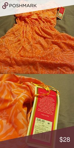 Lilly pulitzer jungle orange dress- Fun and flirty, great for a warm weather destination Lilly Pulitzer for Target Dresses