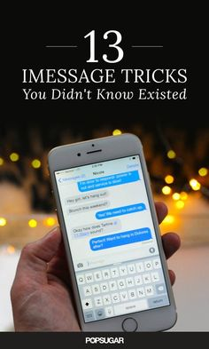 13 iMessage Tricks Y